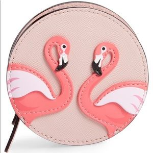 ♠️Kate Spade Flamingo by the Pool Zip Coin Purse